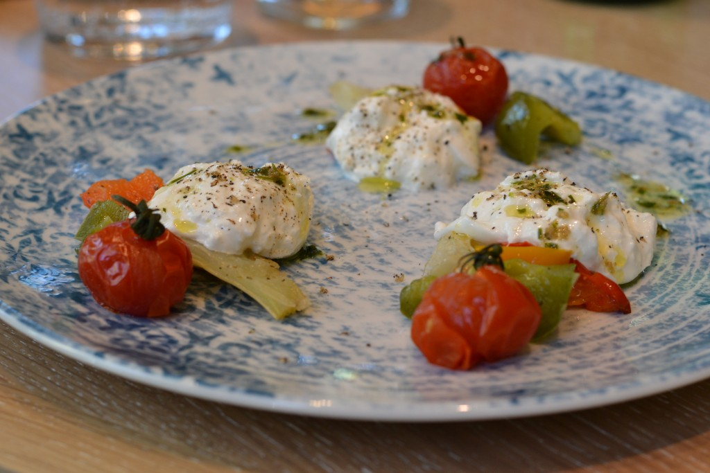 burrata with grilled vegetables vegetarian dinner mama makan amsterdam