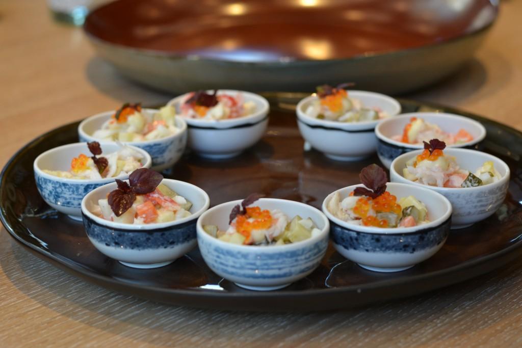 king crab salad starter mama makan amsterdam
