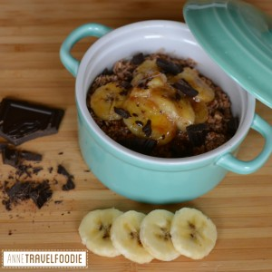 oatmeal baked banana breakfast