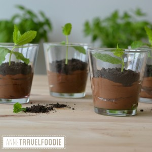 vegan oreo dirt chocolate mousse mint