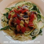 vegan courgetti anne travel foodie