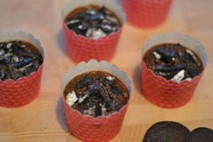 Healthy Oreo muffins