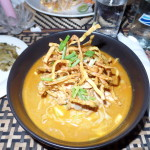 Khao Soi Chicken at cafe panau