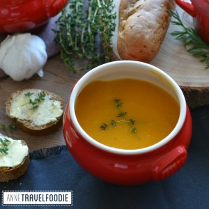 vegan pumpkin soup anne travel foodie