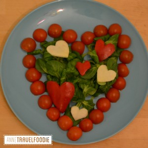 vegan valentine salad