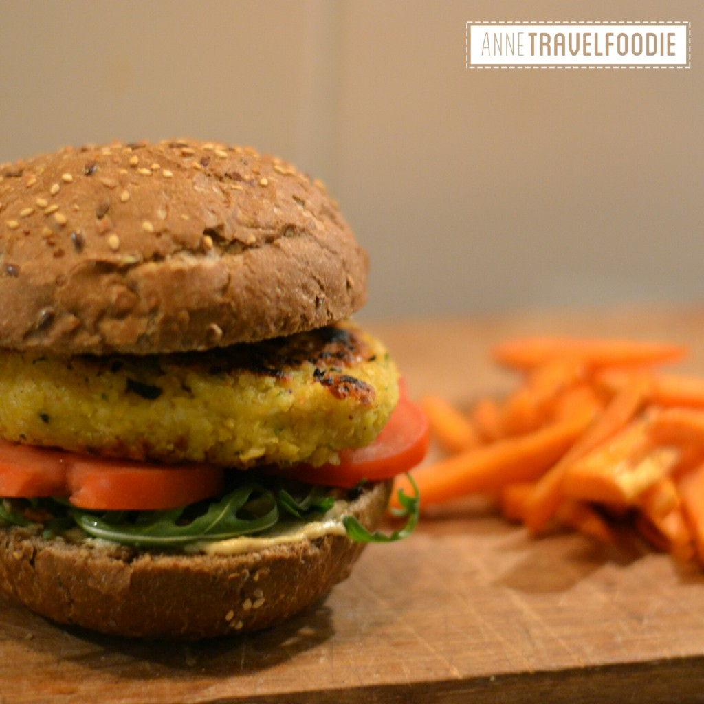 vegan falafel burger insta