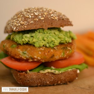 insta sweet potato burger