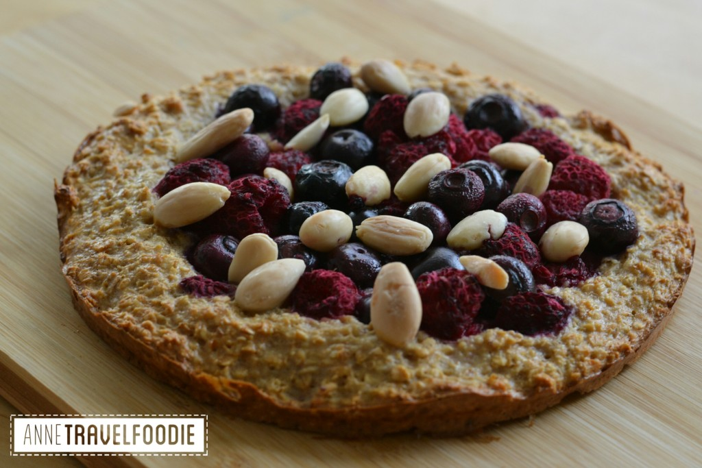 oatmeal forest fruit pie