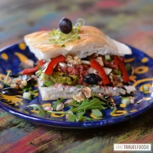 vegan falafel red beet hummus sandwich sunshine breda