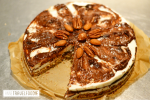 glutenfree coffee cheesecake