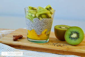 tropical chia pudding mango kiwi