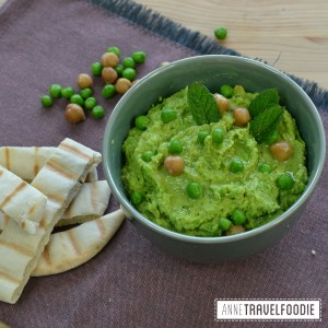 recipe vegan green pea hummus
