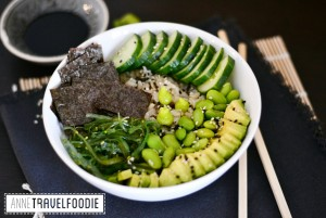 sushi bowl or poke bowl