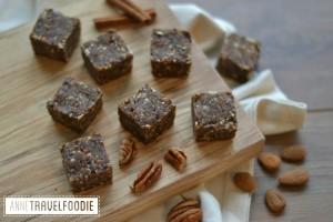 vegan raw pumpkin spice squares