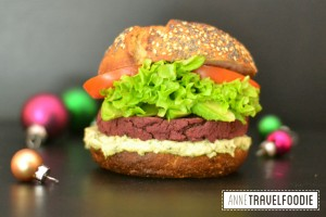 vegan red beet burger annetravelfoodie