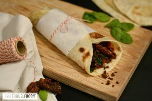 vegan minced meat piadina recipe
