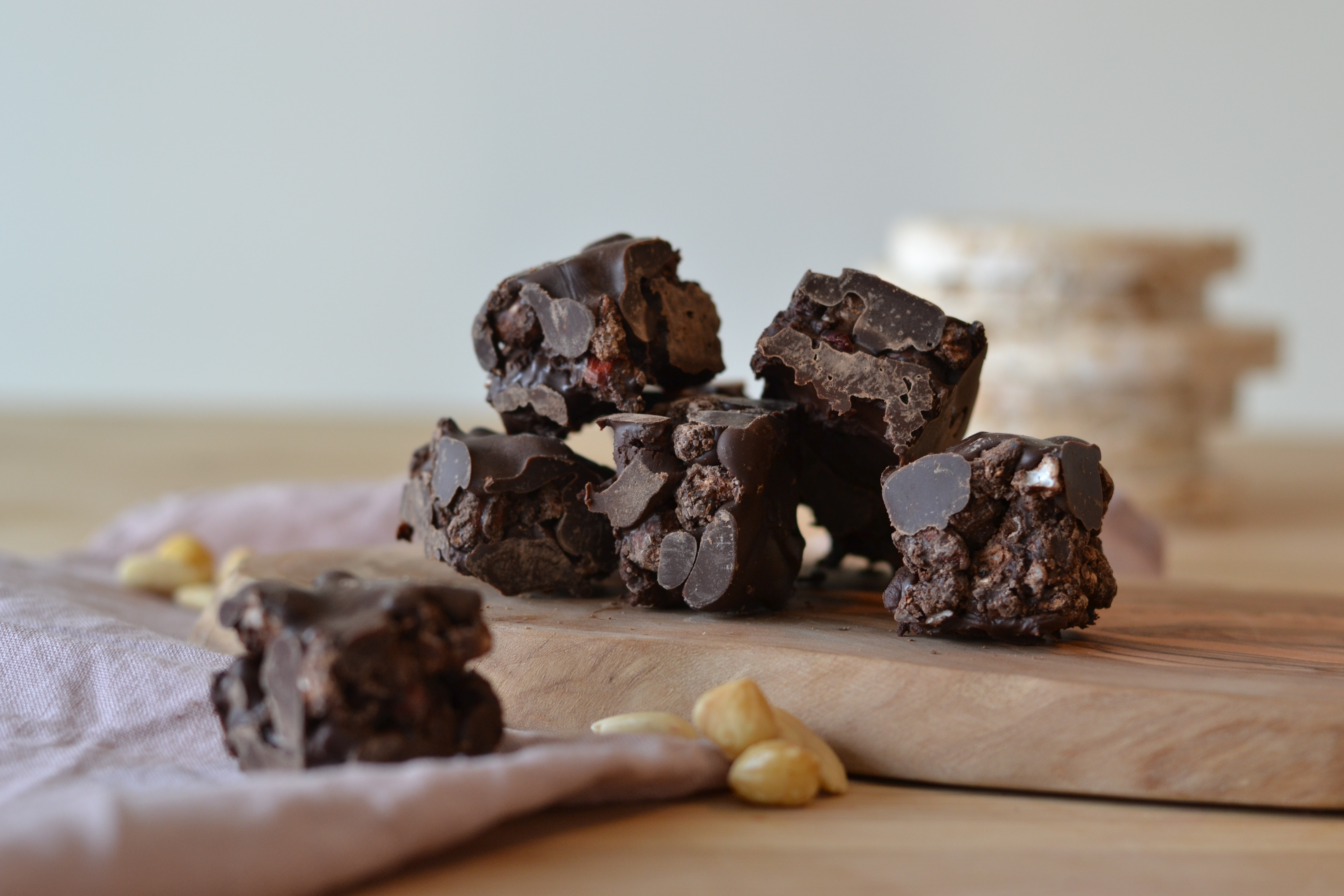 healthy vegan rocky road