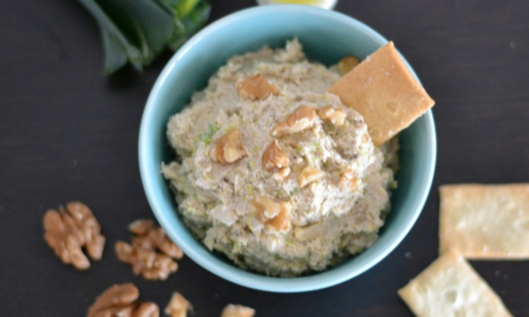 vegan leek walnut spread