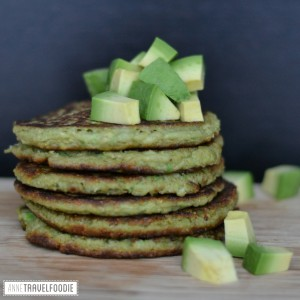 avocado pancake stack