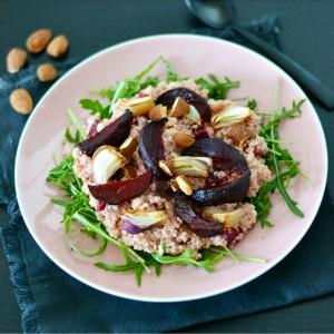 gluten free vegan beetroot quinoa