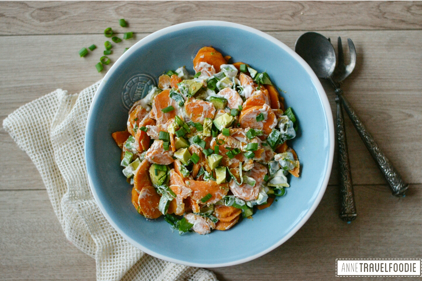 healthy vegan sweet potato salad