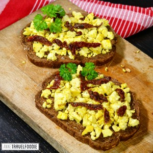 recipe vegan scrambled tofu anne travel foodie