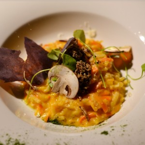 vegetarian risotto at moer amsterdam