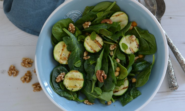grilled courgette salad recipe