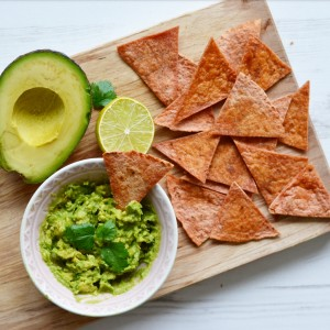 healthy vegan home made tortilla chips