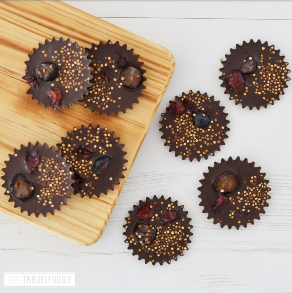 recipe vegan chocolates with popped quinoa