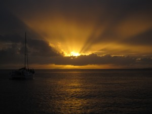 sunset whitsunday islands australia