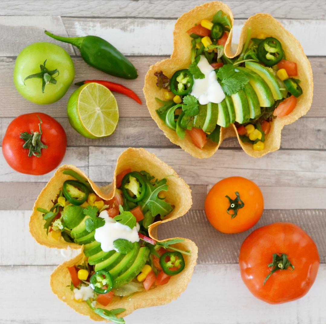 vegan and gluten free tortilla bowl recipe