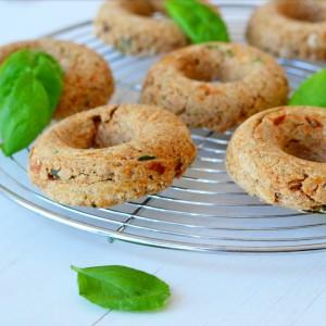 vegan sundried tomato basil donuts