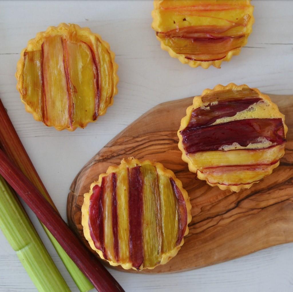 gluten free vegan rhubarb pies