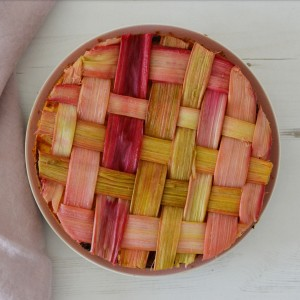 laced rhubarb cake recipe