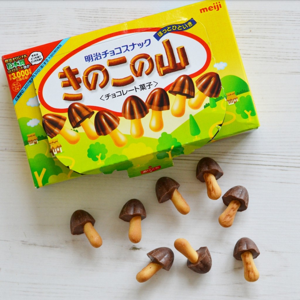 meiji chocolate cookie mushrooms japan