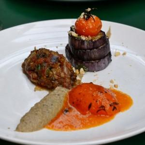 vegan dinner aubergine marits eetkamer
