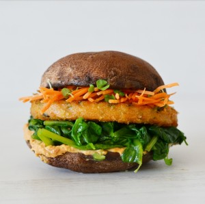 vegan portobello asparagus burger recipe