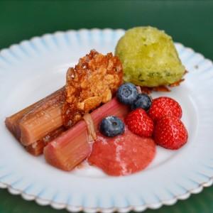 vegan rhubarb dessert marits eetkamer amsterdam