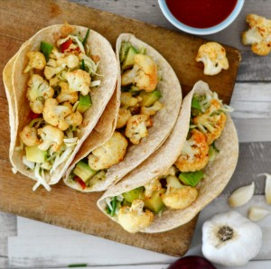 vegan roasted beer cauliflower tacos