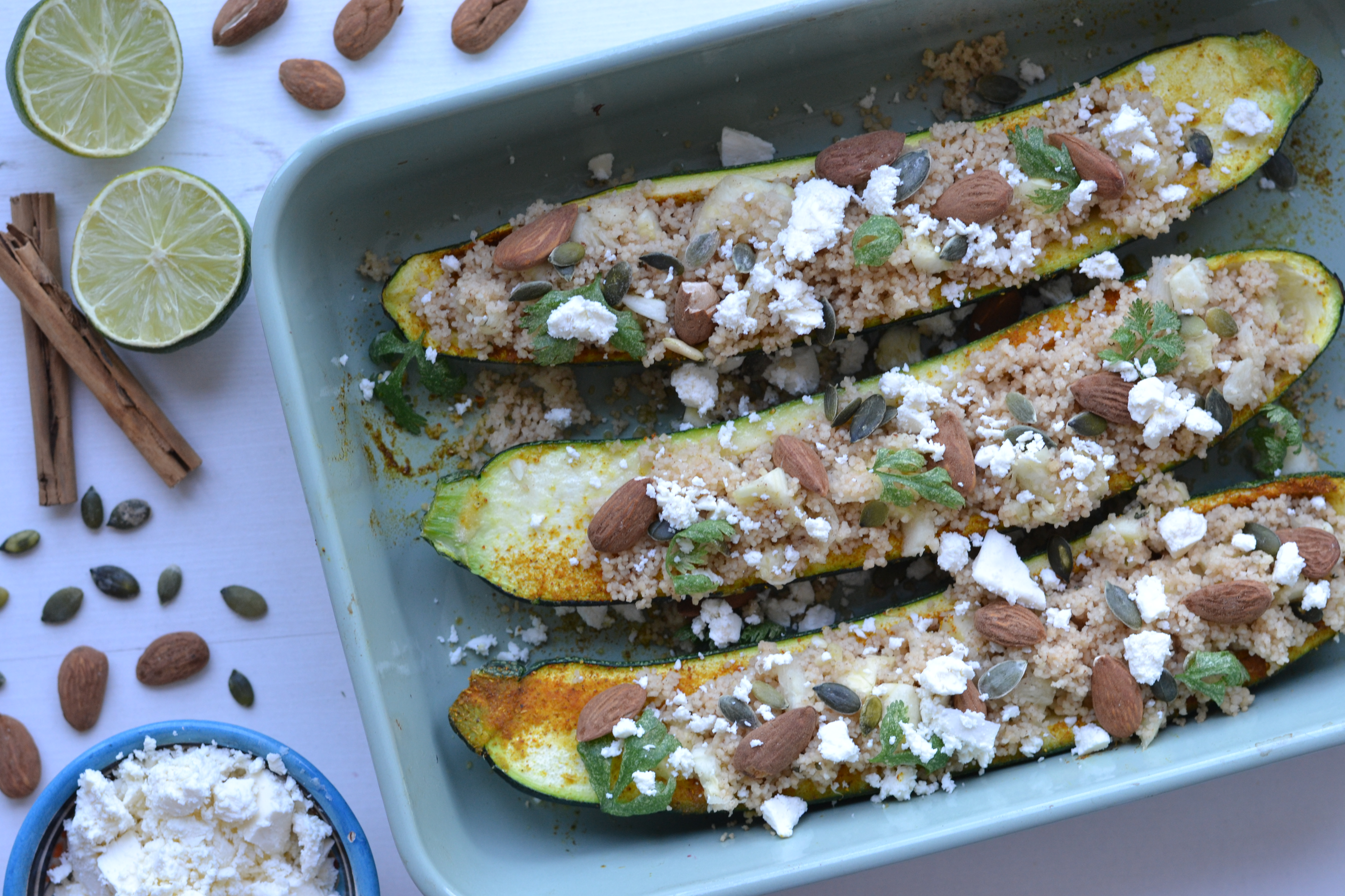 Courgette Boats With Couscous Anne Travel Foodie