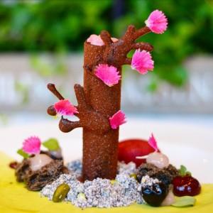 cherry blossom tree dessert conservatorium hotel taiko restaurant