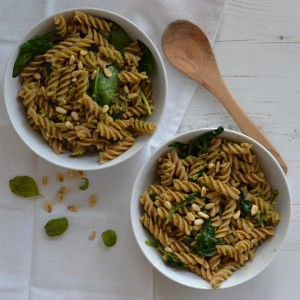niven kunz recipe vegetarian pasta pesto spinach