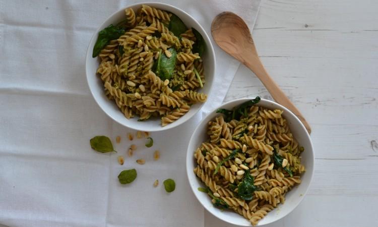 pasta pesto niven kunz recept vegetarisch