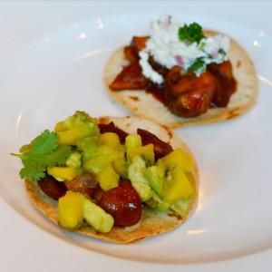 vegetarian mexican tostadas la morena