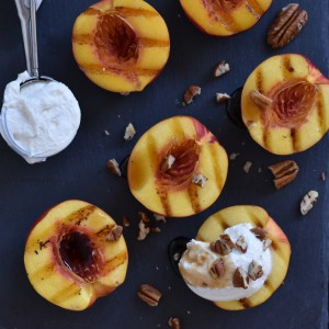 barbecue grilled nectarines