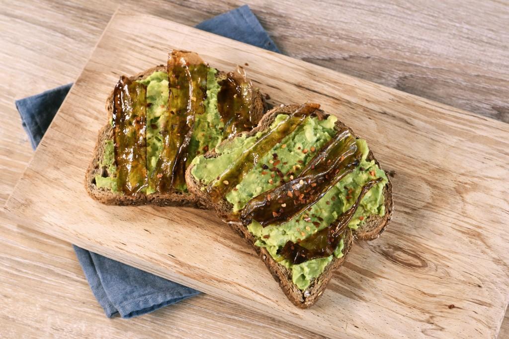 facon vegan bacon avocado toast