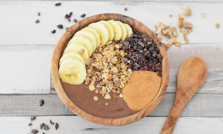 peanut butter nice cream bowl vegan