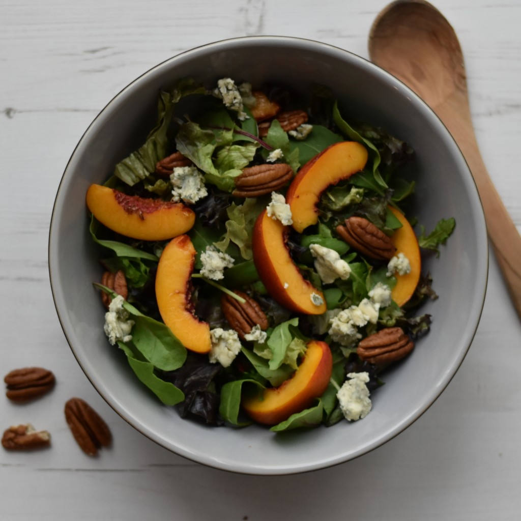 salad nectarines blue cheese