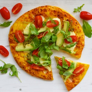 vegetarian pumpkin pizza avocado
